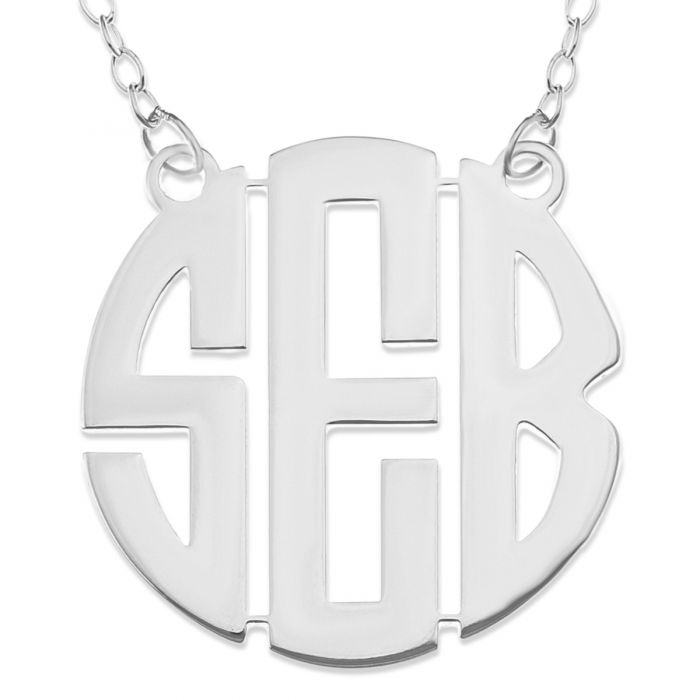 Sterling Silver Personalised 3 Initial