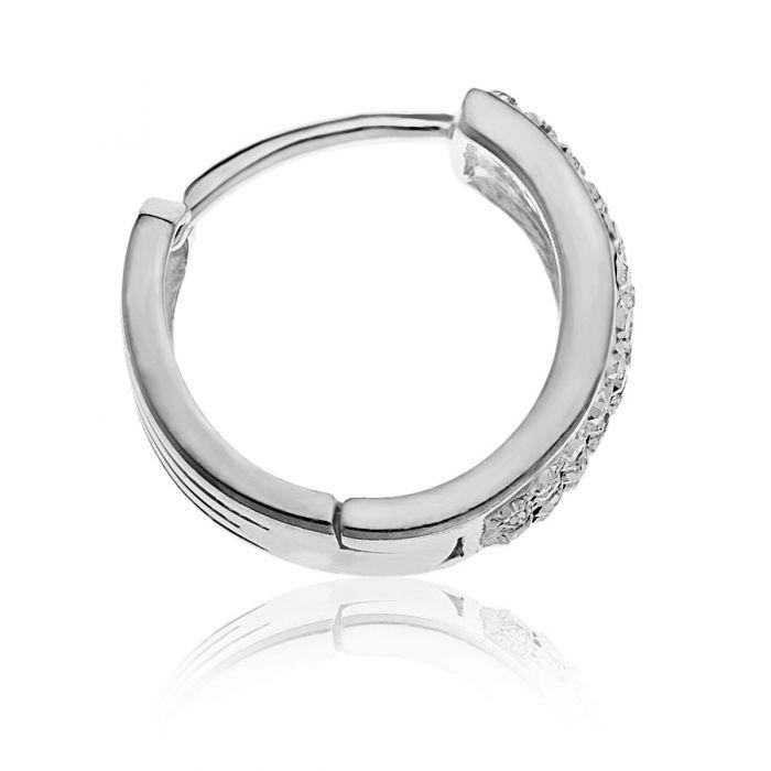 25ed0eb3db57a Silver Men's Set Of Crystal Stud and Hoop Earrings