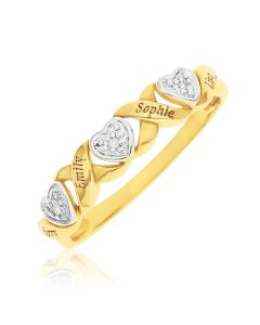 9CT Yellow Gold Personalised Dia Set Eternity Ring