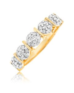 9ct Yellow Gold Diamond Set Eternity Ring