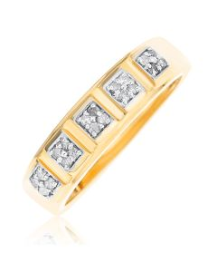 9ct Yellow Gold Dia Set Ring