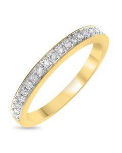 9ct Yellow Gold Diamond Set Half Eternity Ring