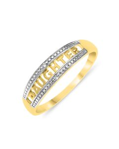 9ct Gold 'Daughter' Diamond Set Ring