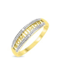 9ct Gold 'Mum' Diamond Set Ring