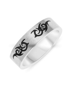 Urban Stainless Steel Gent's Tribal Ring