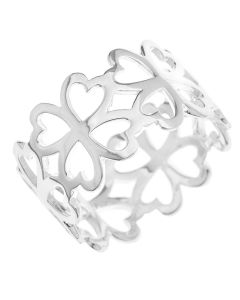 Sterling Silver Cut Out 4 Leaf Clover Ring