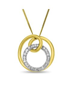 "9ct Gold Diamond Slider Pendant on 18"" Curb Chain"