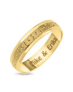 9CT Yellow Gold Women Bubble Wedding Band Ring