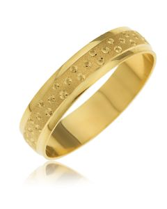 9CT Yellow Gold Women Bubble Wedding Band Ring