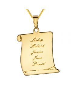 "9ct Yellow Gold Friendship Personalised Letter Pendant on 18"" Curb Chain"