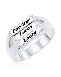 Sterling Silver Personalised Ring