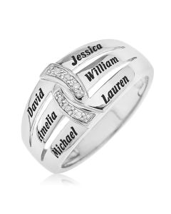 Sterling Silver Personalised Precious Sentiments Ring