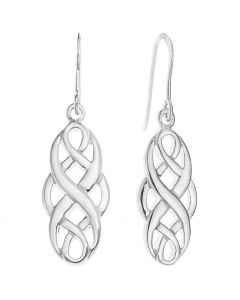 Sterling Silver Celtic Style Hook Earrings