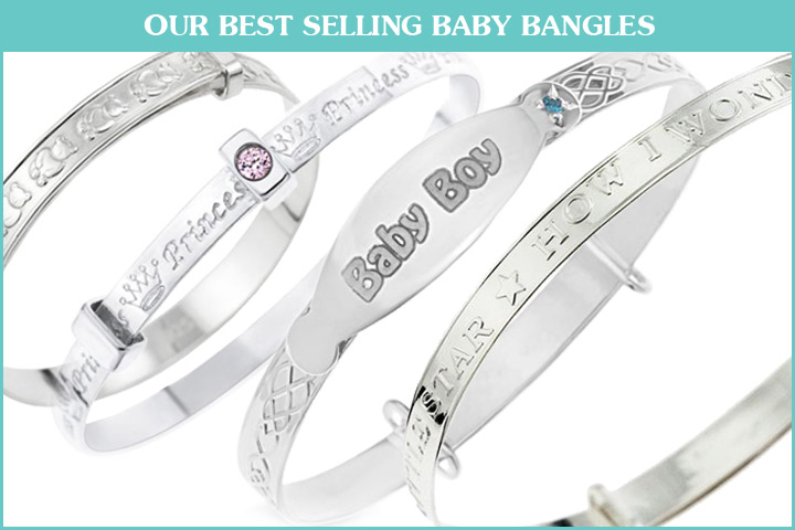 Our best selling baby bangles from Dolce Valentina.